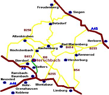 Herschbach Anfahrt Westerwald